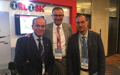 El Sr. Oliver Scheunemann de KLS Martin Group junto a los Doctores Acero y López-Cedrún en CIALACIBU 2017, Argentina