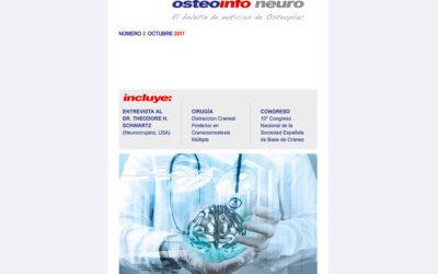 """Ya está disponible el nuevo número de nuestra revista """"Osteoinfo"""" N.º 3 de Neurocirugía"""